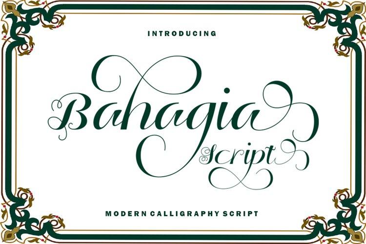 Bahagia Script