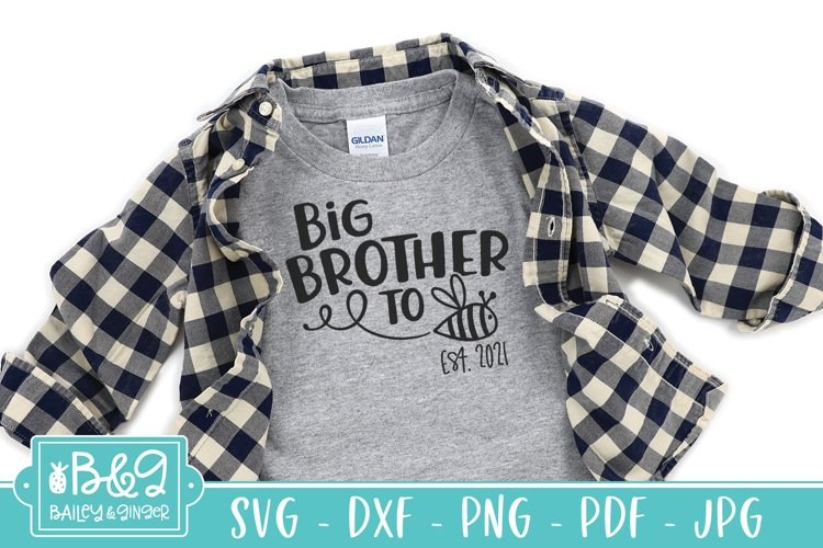 Big Brother To Be SVG - 2021 New Big Brother Announcement example image 1