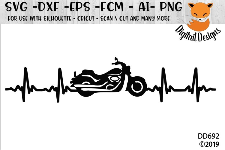 Motorcycle EKG SVG Heartbeat