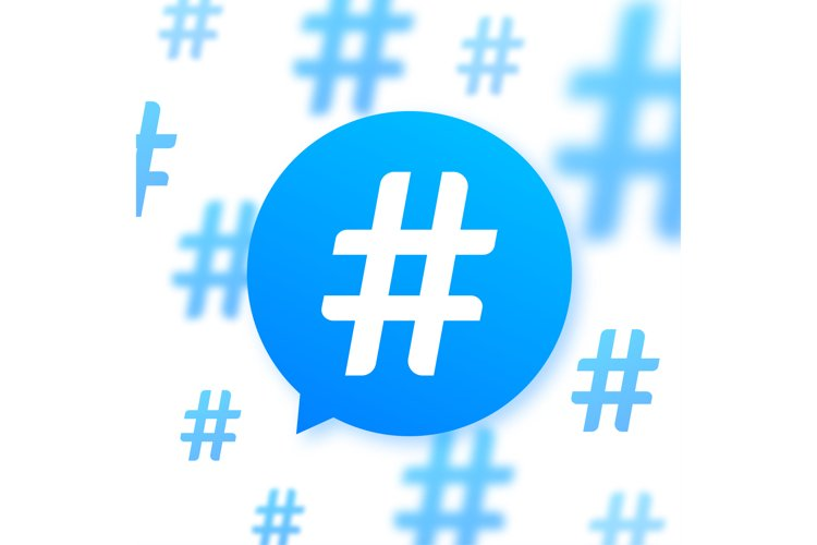 Hashtag, communication sign. Abstract illustration for your example image 1