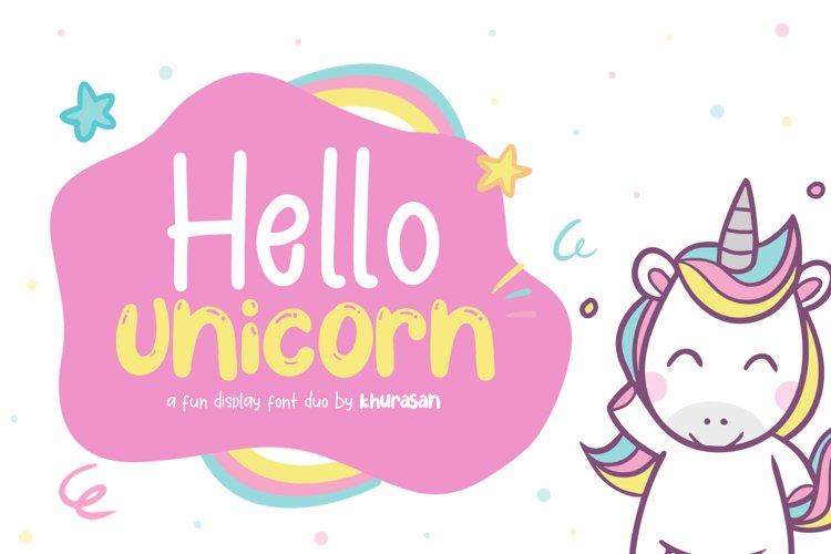 Hello Unicorn example image 1