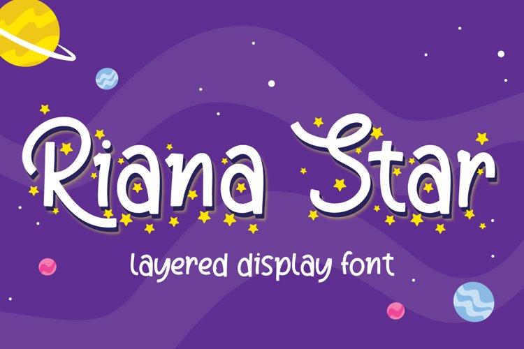 Riana Star - Display Font example image 1