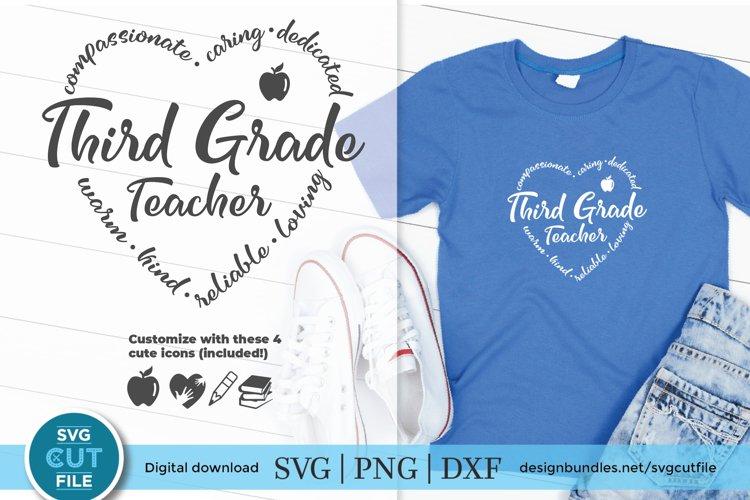 Third Grade Teacher svg - a 3rd grade teacher kit with icon example image 1