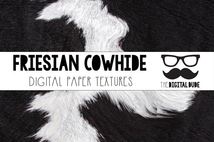 Friesian Cowhide - Digital Paper Set of 24 Images example image 1