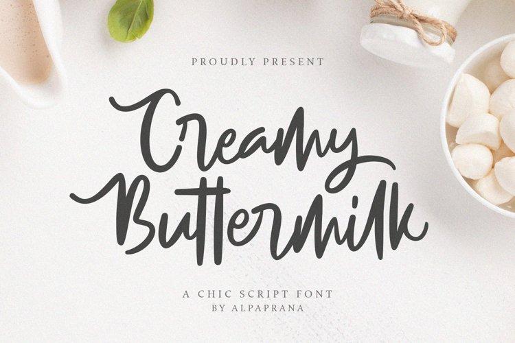 Creamy Buttermilk - A Chic Script Font example image 1