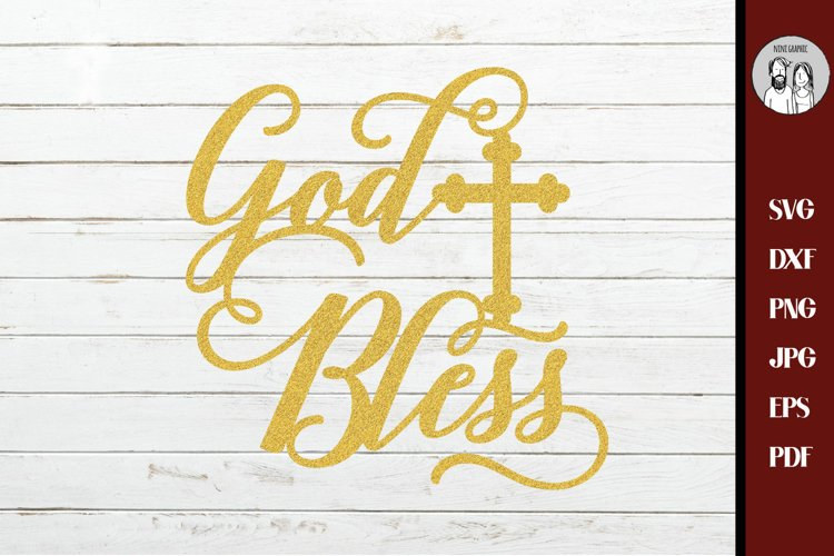 God Bless svg, Christian svg, first communion SVG,