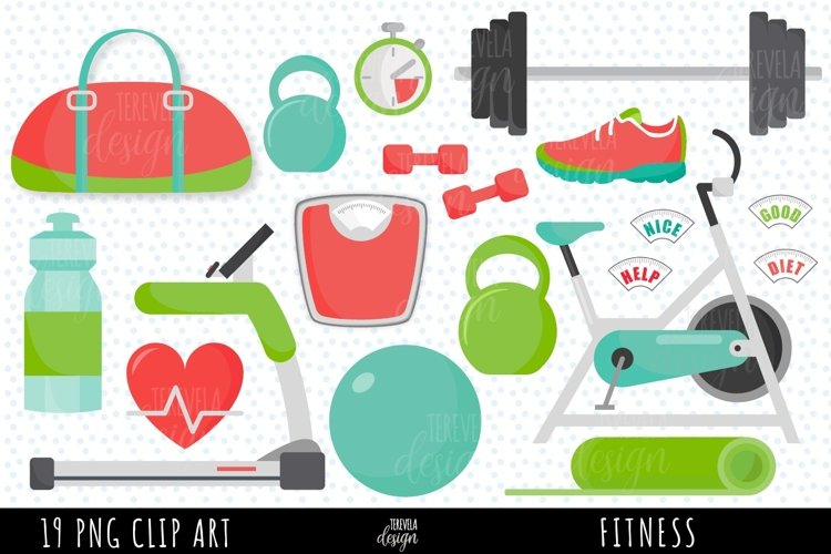 fitness clipart, exercise clipart, yoga, health