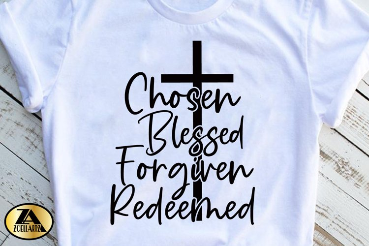 Christian SVG PNG EPS DXF Chosen SVG Blessed SVG Cut Files example 2