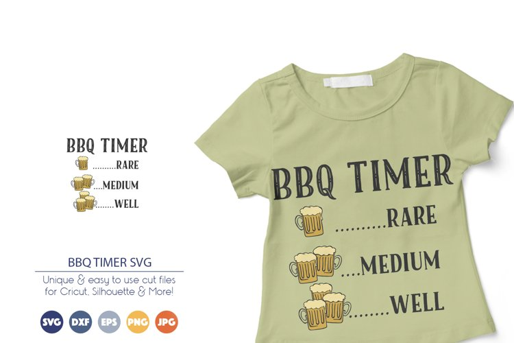BBQ Timer SVG | Drinking Beer SVG example image 1