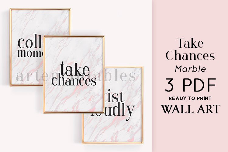 Take Chances Marble Wall Art example image 1