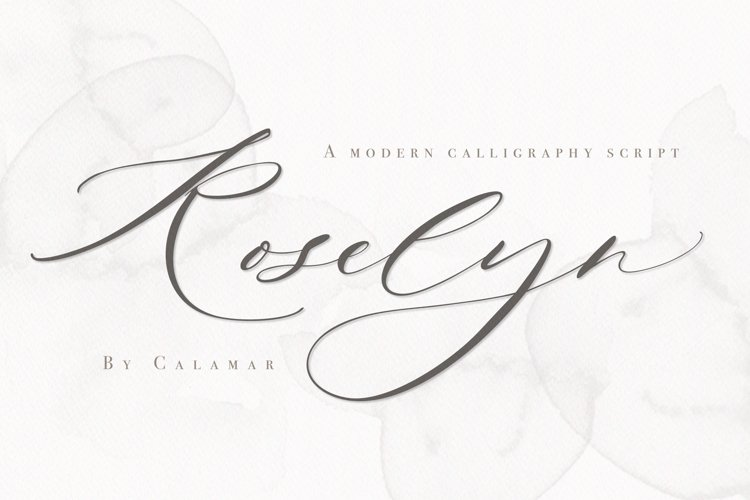 Roselyn Script example image 1