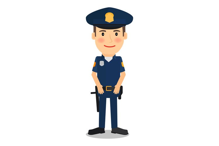 Policeman character vector illustration example image 1