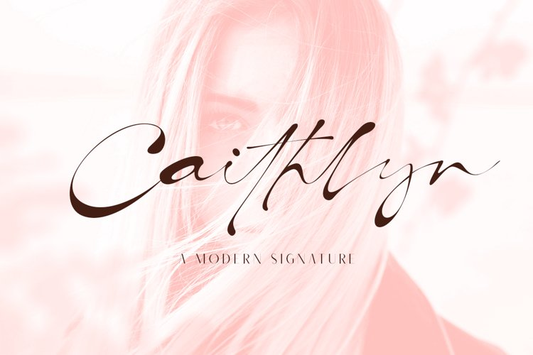 Caithlyn | Modern Signature Font example image 1