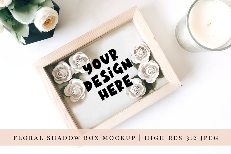 Paper Flower Shadow Box Mock up 1