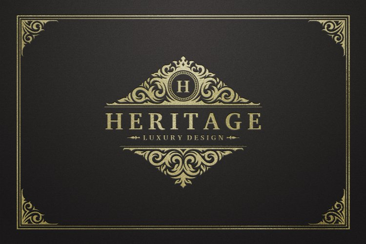 Vintage Ornament Logo Template example image 1