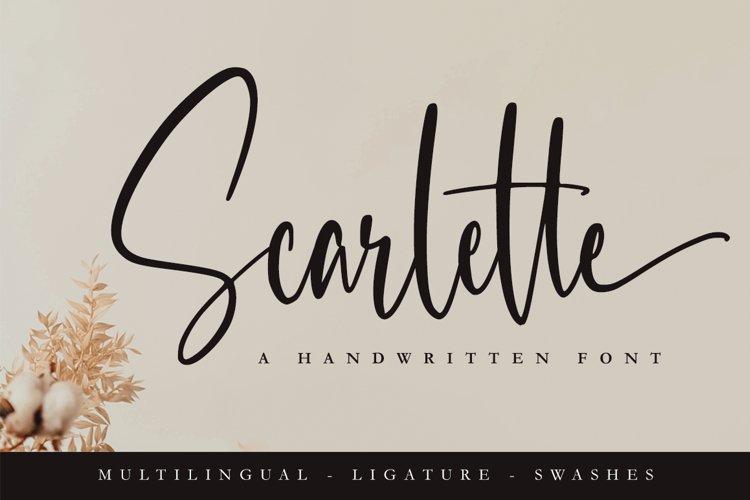 Scarlette - Elegant Font example image 1