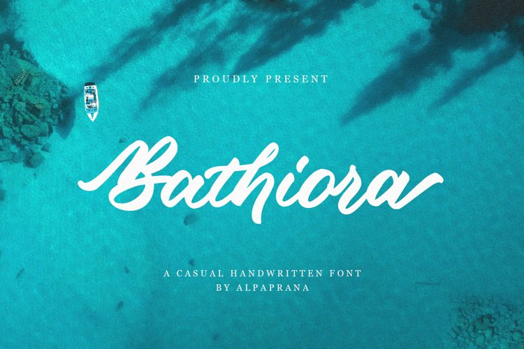 Bathiora - A Casual Handwritten Font example image 1