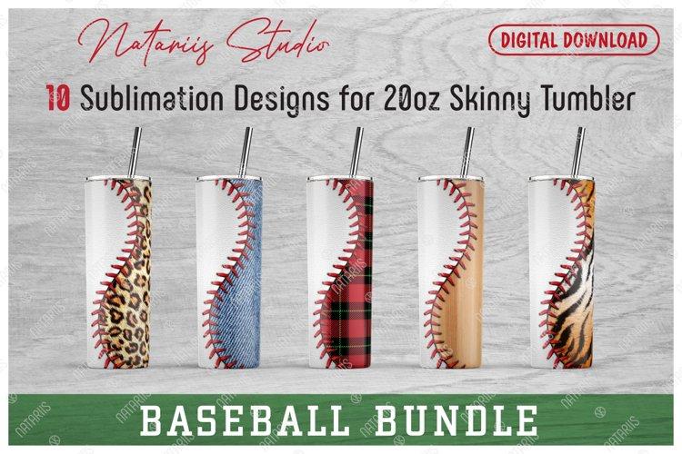 10 Baseball Seamless Patterns for 20oz SKINNY TUMBLER.