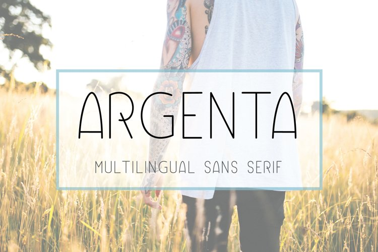 Argenta   Multilingual Sans Serif example image 1