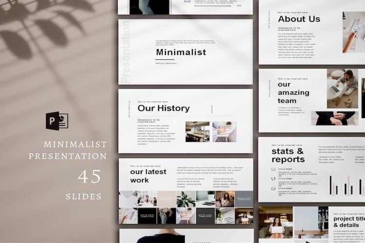 Minimal Presentation, PowerPoint example image 1
