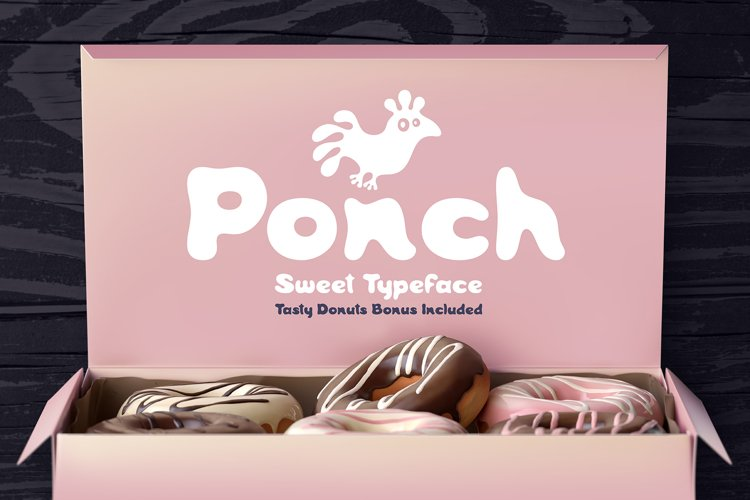 Ponch font and graphics example image 1