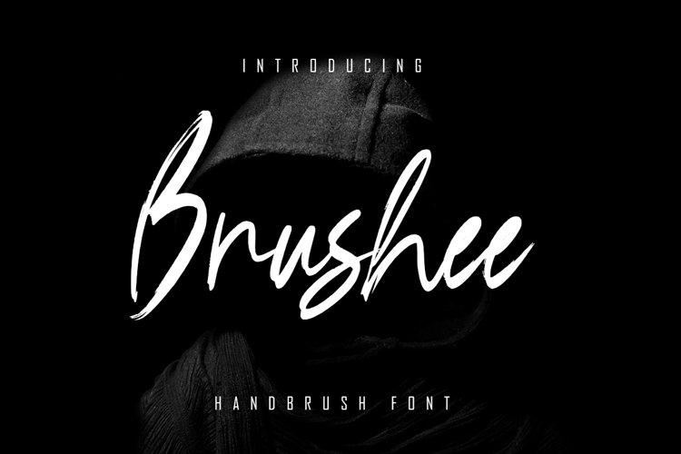 Brushee - Handbrush Font example image 1