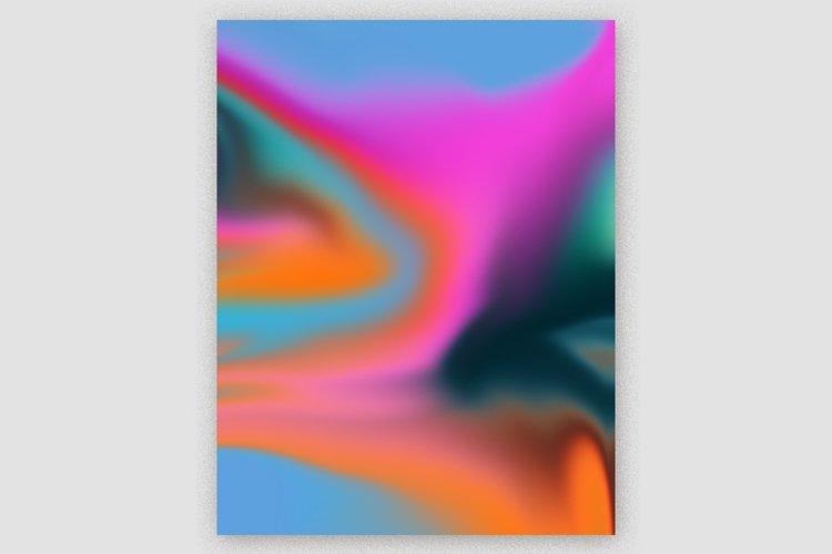 Gradient Marble Art Digital Paper #03 example image 1