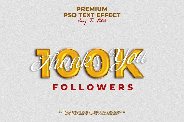 100K Follower Text Style Effect
