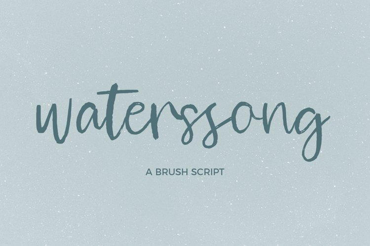 Waterssong Brush Script example image 1