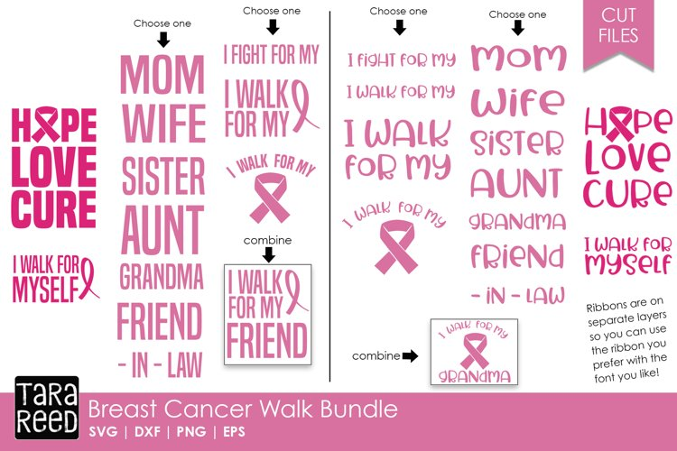 Breast Cancer Walk - Breast Cancer SVG example image 1