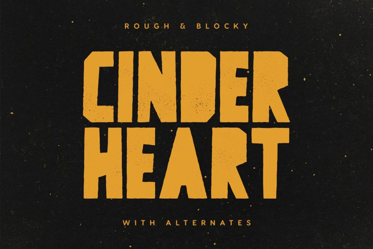 Cinderheart - A Rough & Blocky Font example image 1