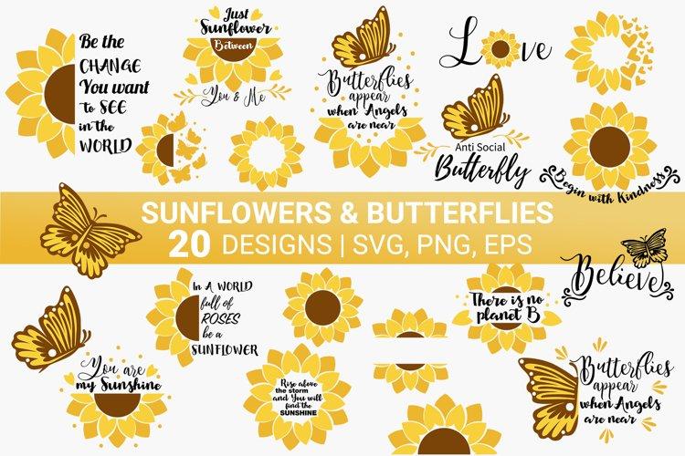 Sunflower & Butterfly SVG Bundle SVG cut file | Quotes