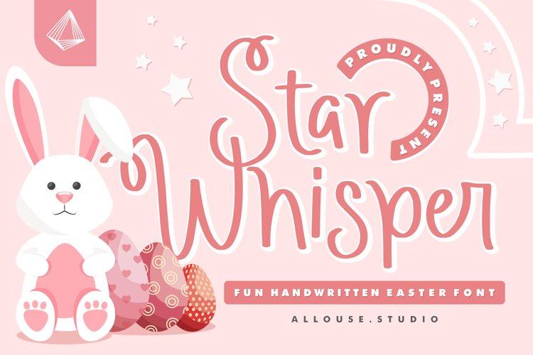 Web Font - Star Whisper example image 1