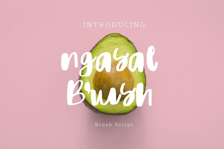 Ngasal brush Script example image 1