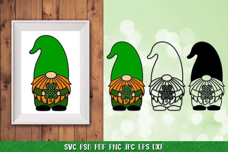 Gnome St Patrick SVG,Gnome Irish SVG,Clover SVG,Shamrock SVG
