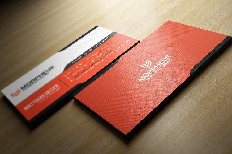 Orange Business Card example 1