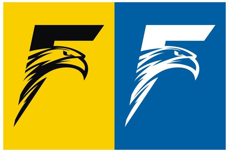 Letter F and Falcon Head Logo Design