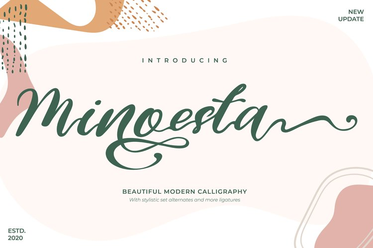 Minoesta | Beautiful Modern Calligraphy example image 1