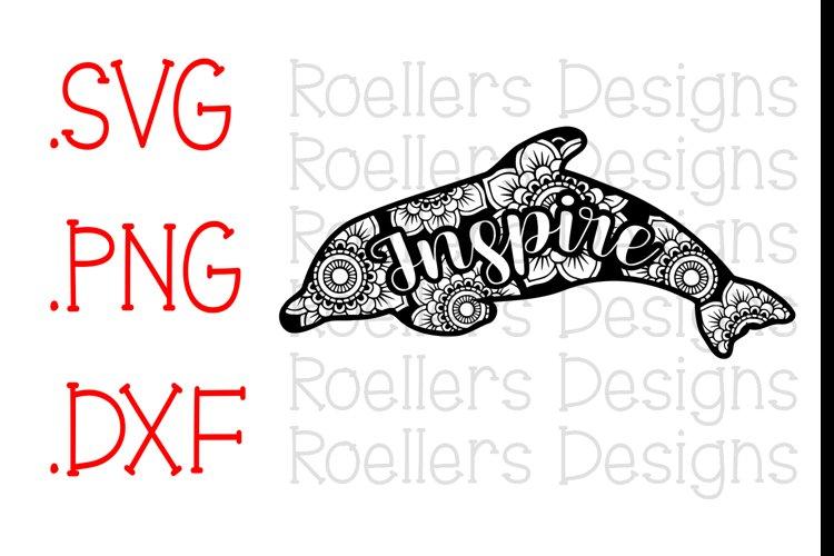 Dolphin Mandala, Dolphin Zentangle, Mandala, Zentangle, SVG, DXF, PNG, Cricut, silhouette, Cut file, Dolphin svg, Mandala Svg, Inspire Svg