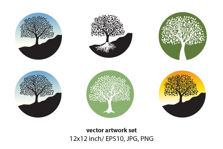 FRUIT TREE- VECTOR ARTWORK SET example image 1