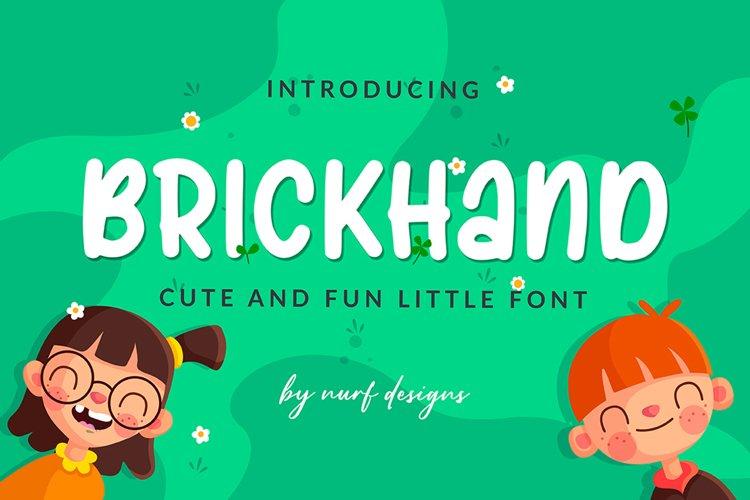 Brickhand - Web Font example image 1