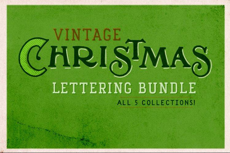 Vintage Christmas Lettering Bundle