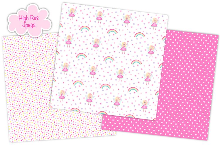 Fairy digital papers, Unicorn digital papers, Fairy patterns - Free Design of The Week Design1