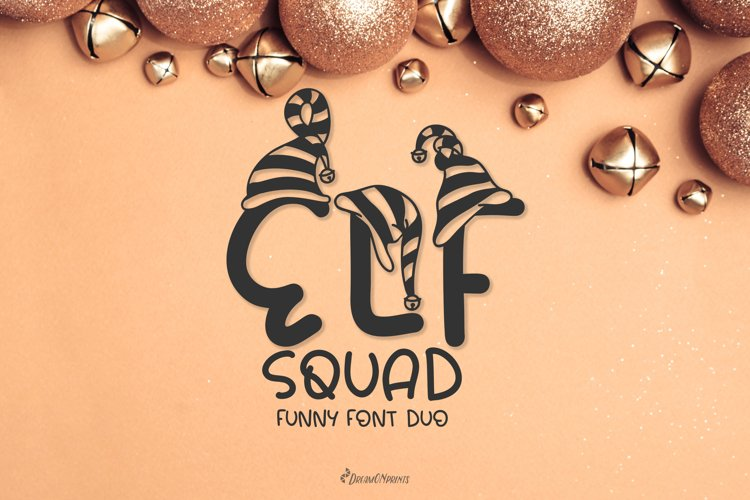 Elf Squad Font Duo | Funny Christmas Font example image 1