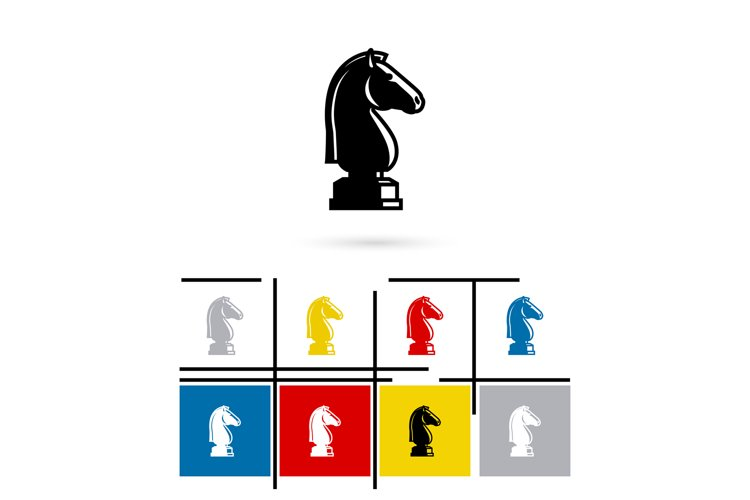 Chess knight icon vector example image 1