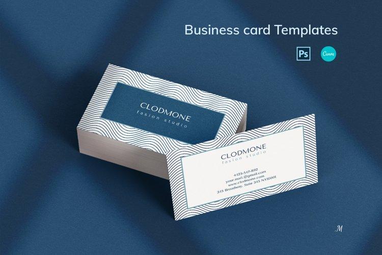 Editable Elegant Business Card Template example image 1