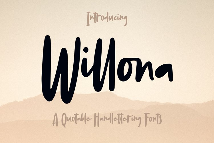 Willona - Quotable Handlettering Font