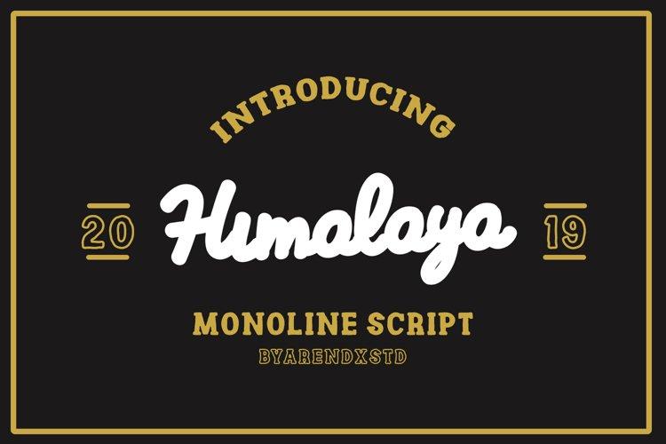 Himalaya Monoline Scripts example image 1