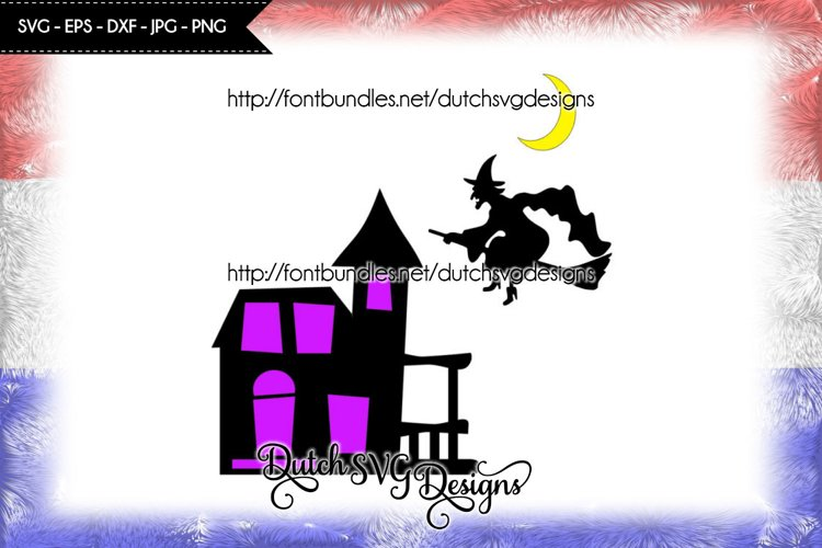Halloween cut file witch house, halloween svg, witch svg