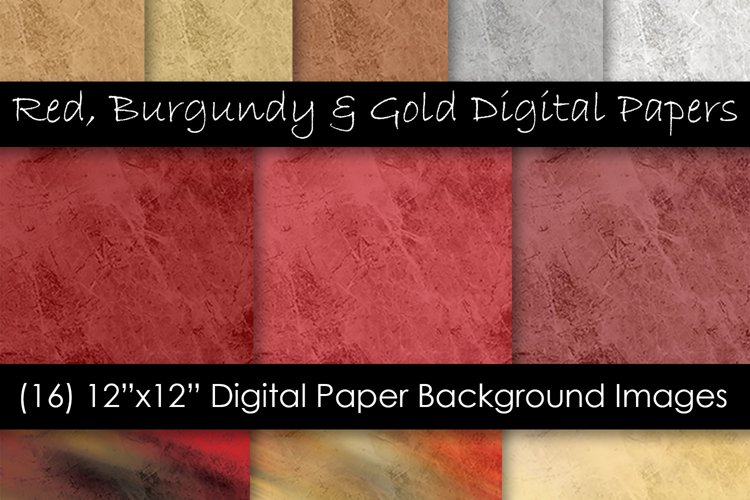 Rock & Stone Red Burgundy and Gold Backgrounds example image 1